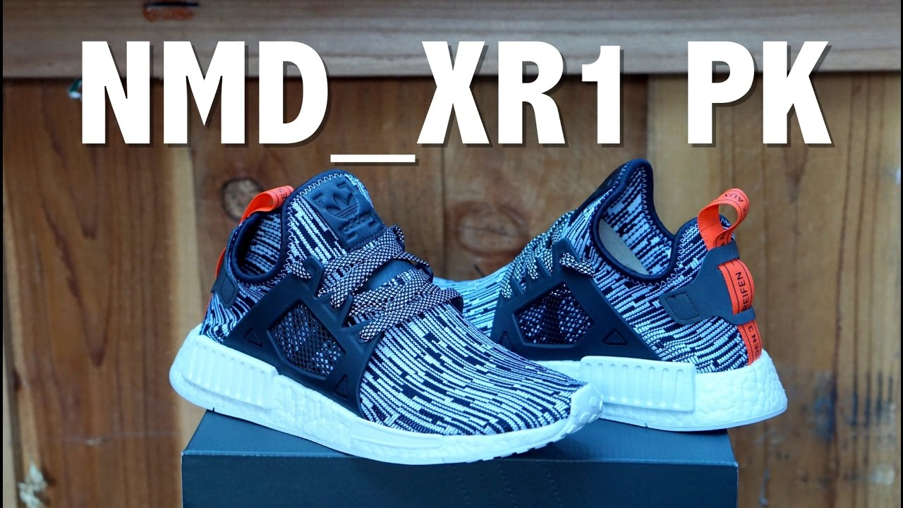 Adidas NMD XR1 PK Womens Primeknit Glitch Navy BB3685
