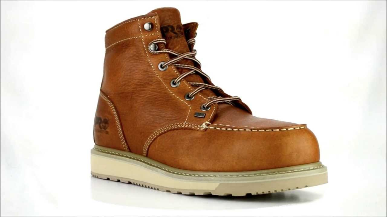 d63186771dd Men s Timberland 88559 Alloy Toe Wedge Sole Work Boot   Steel-Toe-Shoes.com  - YouTube