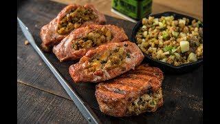 Grilled Stuffed Pork Chops Recipe  Traeger Wood Fired Grills