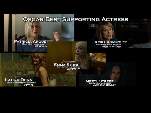 Best Supporting Actress Oscar Nominees , Streep , Stone, Arquette, Knightley