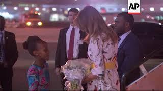 US First Lady Melania Trump arrives in Kenya