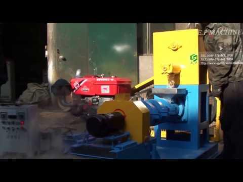 HSDGP80 diesel engine model dry type fish feed extruder pellet mill