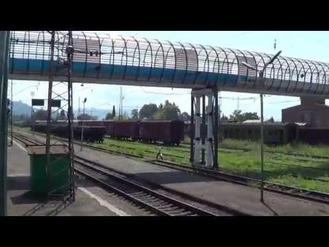Абхазия из окна тепловоза -2 Адлер-Сухум