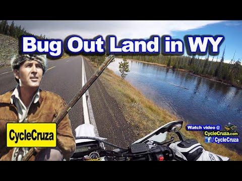 Buying Land in Wyoming for Off Grid Living Bug Out Vehicles | MotoVlog Yellowstone