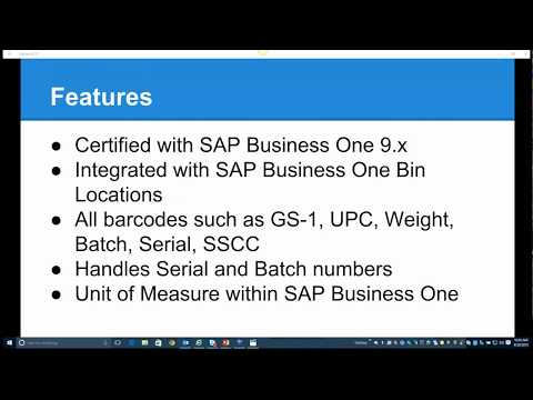 SB04 PDA - WMS for SAP Business One