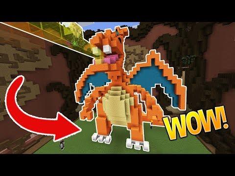 LEGENDARY CHARIZARD!!! (Minecraft Build Battle)