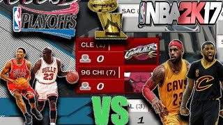 95-96 BULLS VS CAVS BEST OF 7 SIMULATION IN NBA2K17! Who would win?