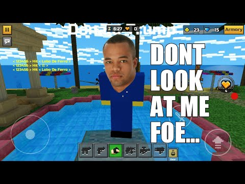 Dating and Trolling Noobs in pixel gun 3d!!!