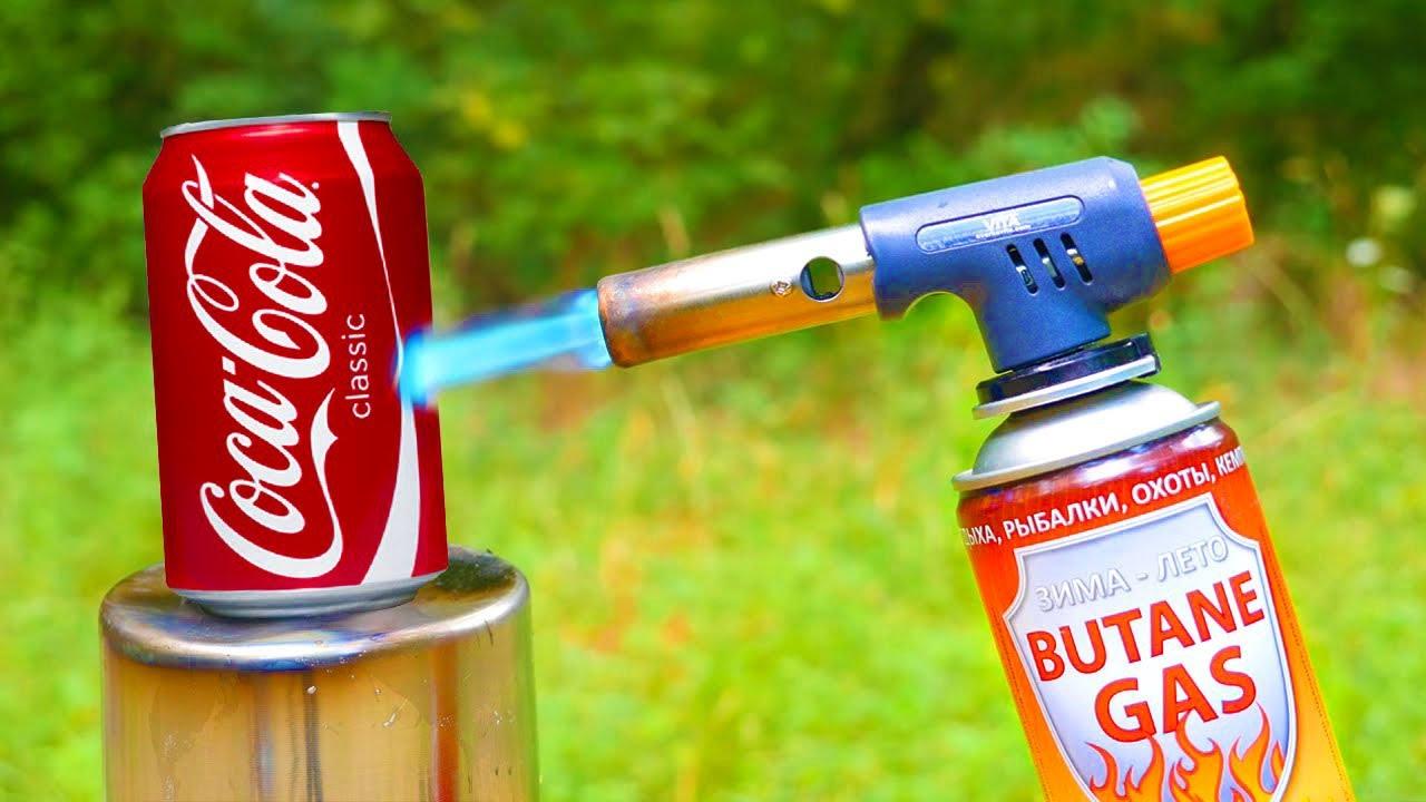 EXPERIMENT: COCA COLA VS GAS BURNER! Will COCA COLA explode?