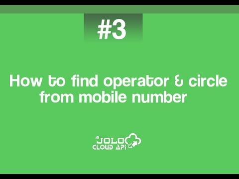 How to find operator from mobile number by jolo.in and joloapi.com
