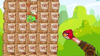 Angry Birds Cannon Bird 1 - BLAST THE HUGE CANNON PIGGIES BY EXPLODING 1000 TNT!!