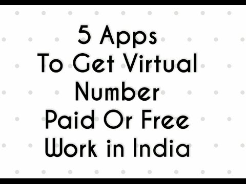|| How to Get Virtual Number +1 || || Apps Tech ||