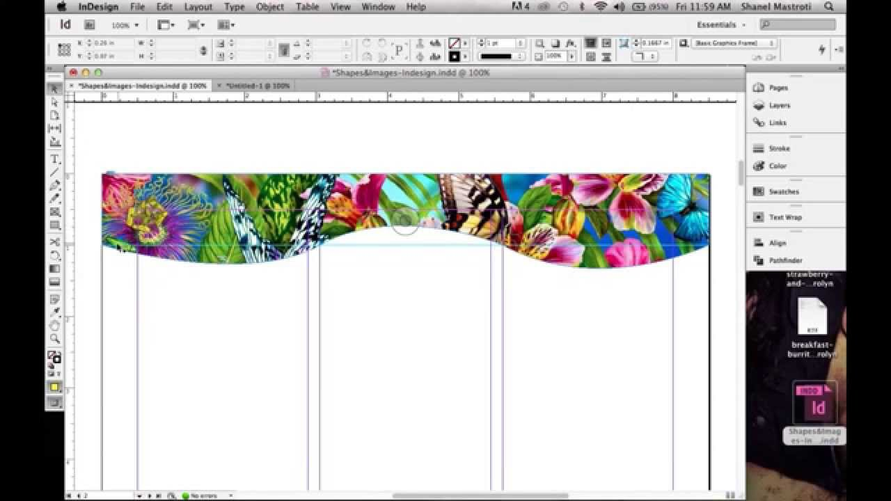 How To Create A Custom Shape In Indesign Using The Pen Tool - YouTube