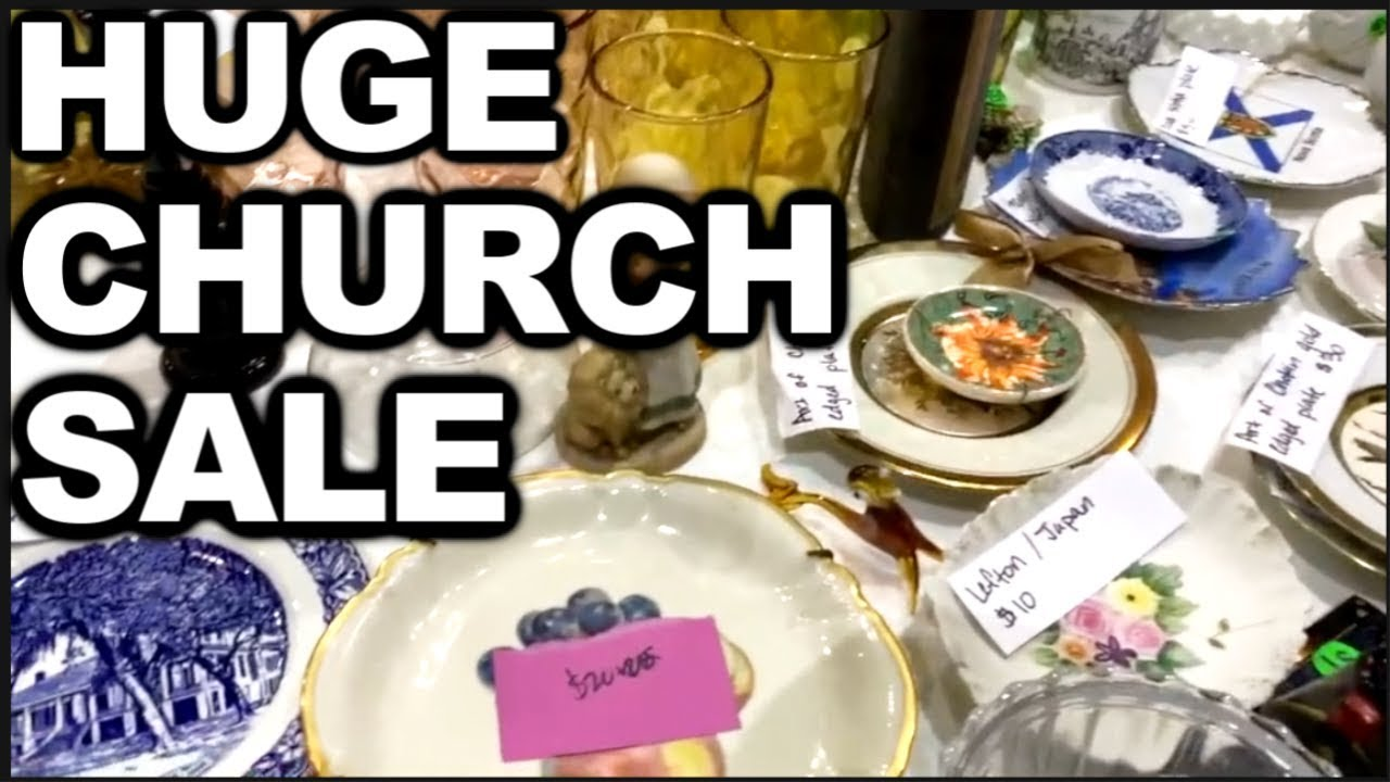 Church GARAGE SALE 2019 & HAUL to SELL on EBAY for PROFIT | Garage Sale  With Me