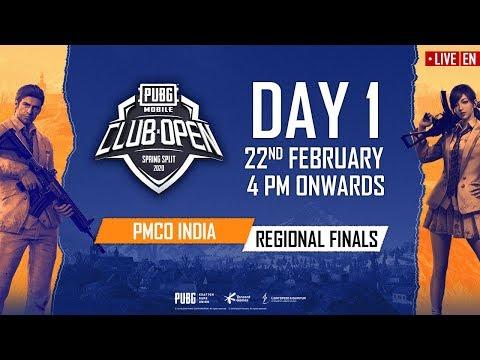 [EN] PMCO India Regional Finals Day 1   Spring Split   PUBG MOBILE CLUB OPEN 2020