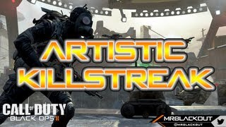 Black Ops 2 Amazing Artistic Killstreak Multiplayer Gameplay - Theater Mode Thursday