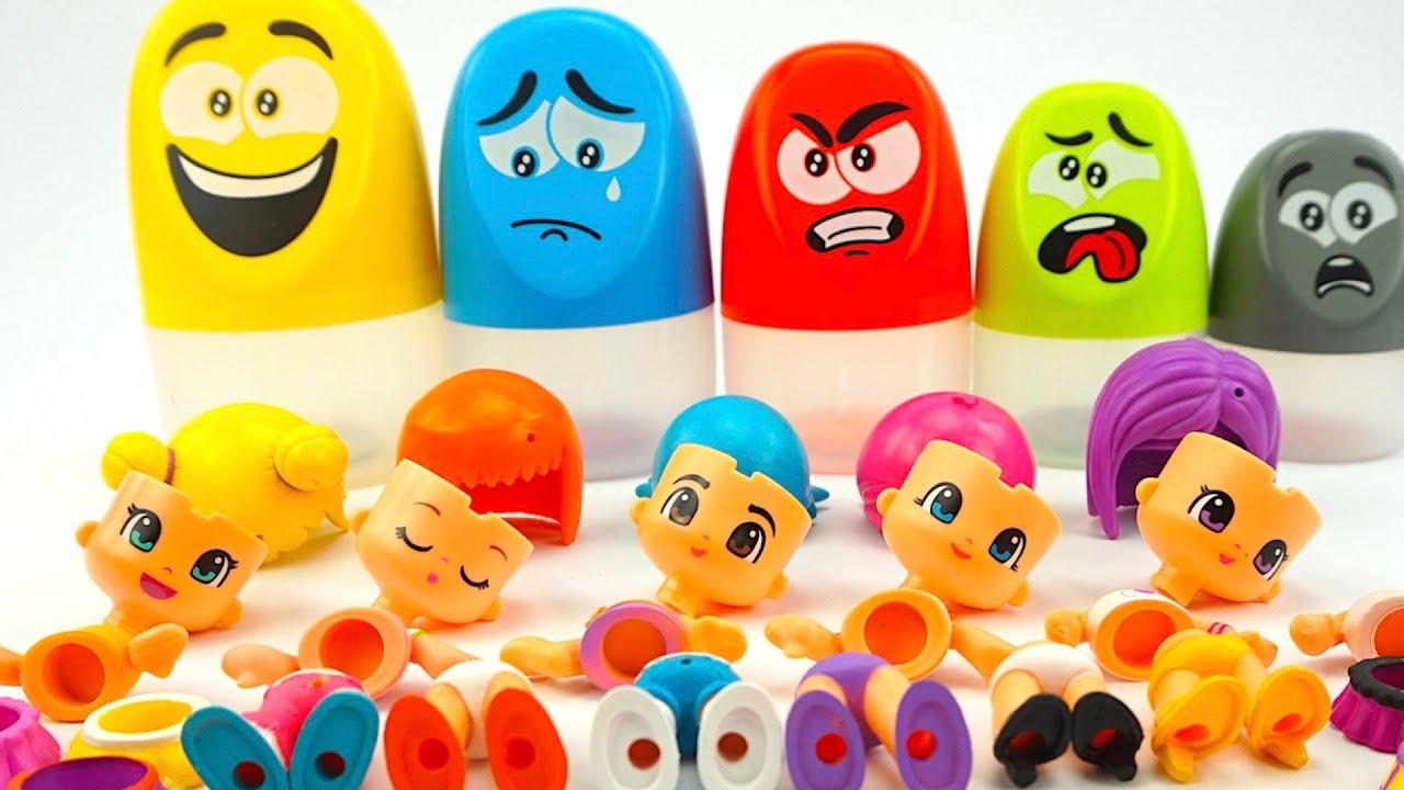 Игрушки Пинипон для детей. Играем и веселимся с конструктором кукл.