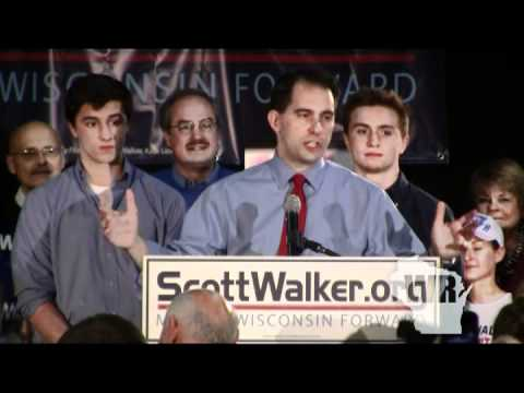 Gov. Walker rally after Wisconsin recall primary election
