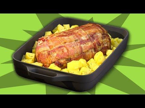Hackbraten Mit Bacon Aus Dem Backofen Ein Rezept Fur Den Nachsten Braten Zum Mittagessen Youtube