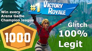 *GLITCH* HOW TO WIN EVERY FORTNITE GAME (ENTER CHAMPIONS LEAGUE 1000 PLUS POINTS)