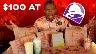 Trying $100 Of Food At Taco Bell!