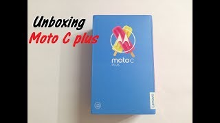 Moto C plus Unboxing in hindi {In India} / Best stock Android phone under 7000