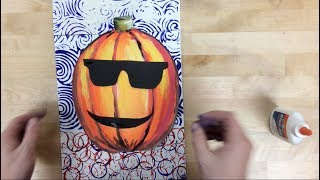 Elementary Art - Pumpkin Painting Project