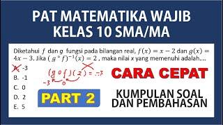 Soal dan Pembahasan PAT Matematika Wajib Kelas 10 (X) Semester 2 \x5bPART 2\x5d