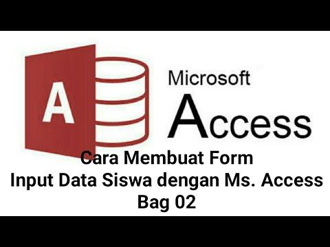 Cara Membuat Form Input Data Siswa dengan Microsoft Access ...