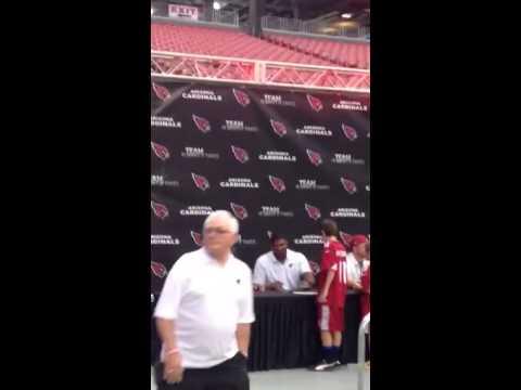 Arizona Cardinals autograph signing at the NFL draft Party