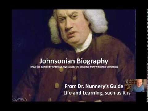 AP ELC lecture: Johnsonian Biography