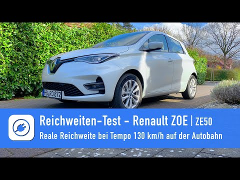 Renault ZOE ZE50 - Electric car range endurance test at 130 km/h on the motorway from YouTube · Duration:  18 minutes 9 seconds