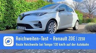 Renault ZOE ZE50 - Elektroauto Reichweiten-Härtetest bei 130 km/h auf der Autobahn