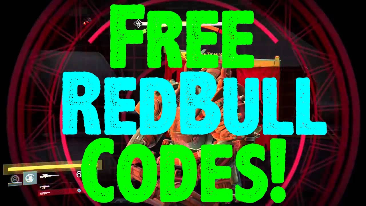 destiny free redbull codes how to redeem codes for focused