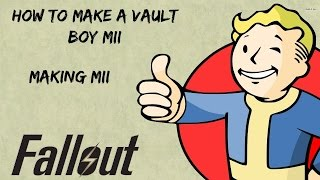 How to make a Vault Boy from Fallout Mii