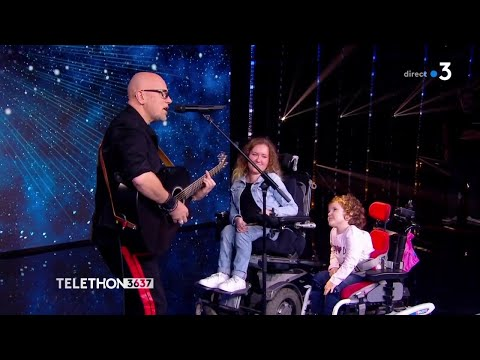 """Pascal Obispo Chante """"Tombé Pour Elle """" Téléthon 2018"""