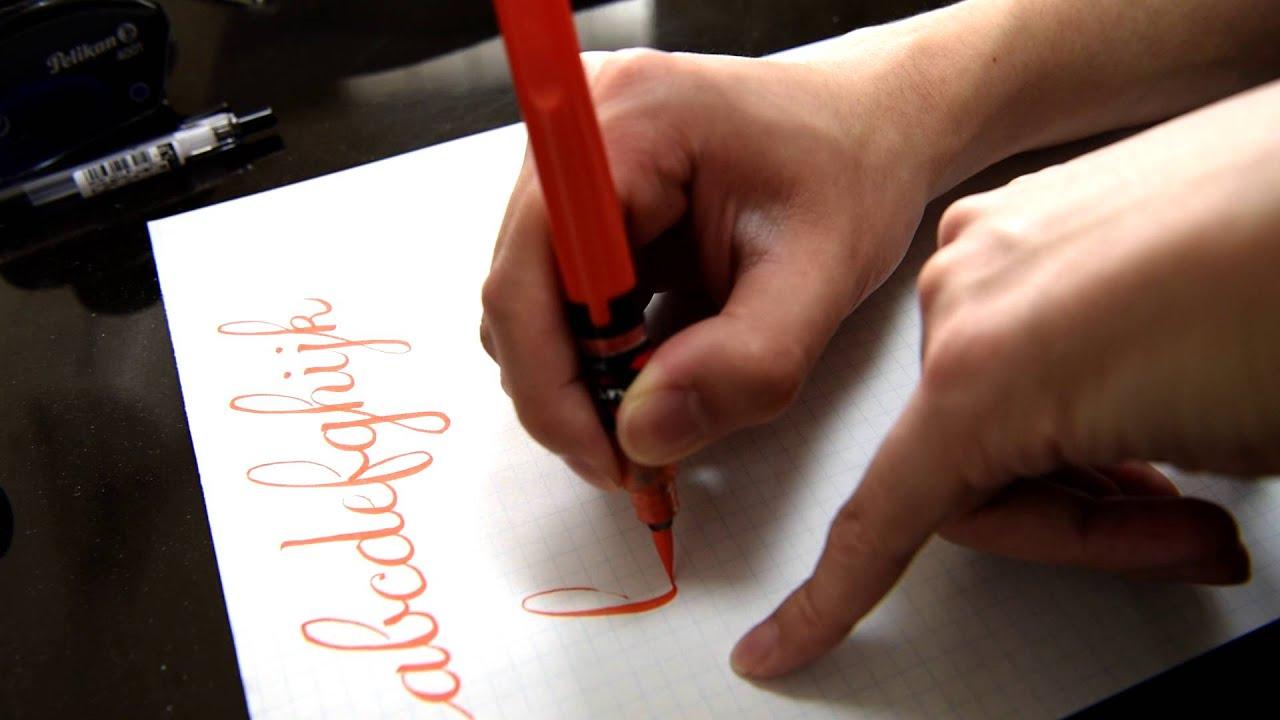 Brush pen alphabet calligraphy youtube