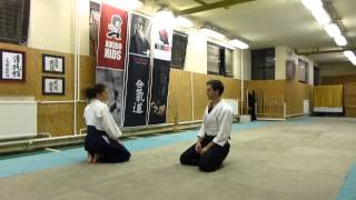suwari waza shomen uchi iriminage [AIKIDO]  basic technique