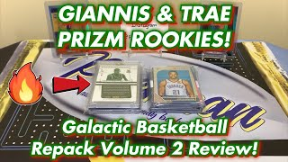 TOP ROOKIE PRIZM PICKUPS! GIANNIS & TRAE RC's! + Galactic Basketball Repack Volume 2 Review!