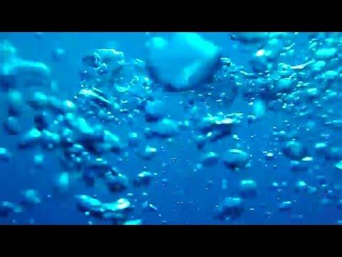 【水中動画】泡と青 Bubble and blue Underwater Bubbles Sound