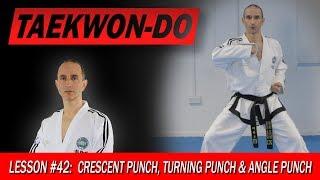 Crescent Punch, Turning Punch & Angle Punch  - Taekwon-Do Lesson #42