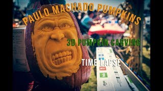Paulo Machado 3D Pumpkin Carving At Dell'Osso Farms