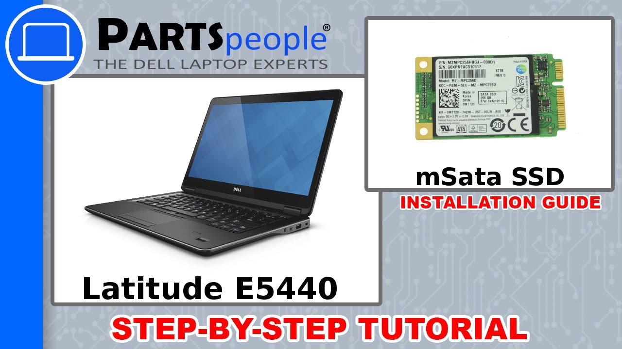 Dell Latitude E5440 Msata Solid State Drive How To Video Tutorial Youtube