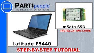 Dell Latitude E5440 mSata Solid State Drive How-To Video Tutorial