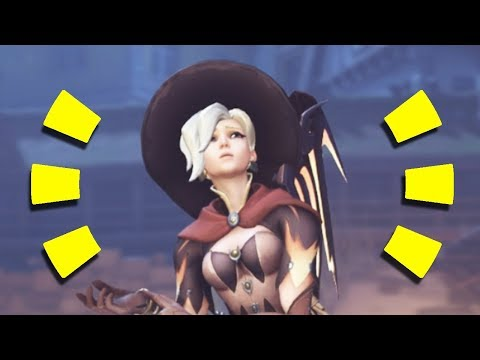 Overwatch - THE NEW MERCY REZ GAMEPLAY + 3 New Skins