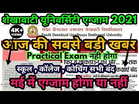 Shekhawati University Exam 2021 कब होगी || PDUSU Exam 2021 Big Update  UG PG BEd Exam 2021 कब होगी
