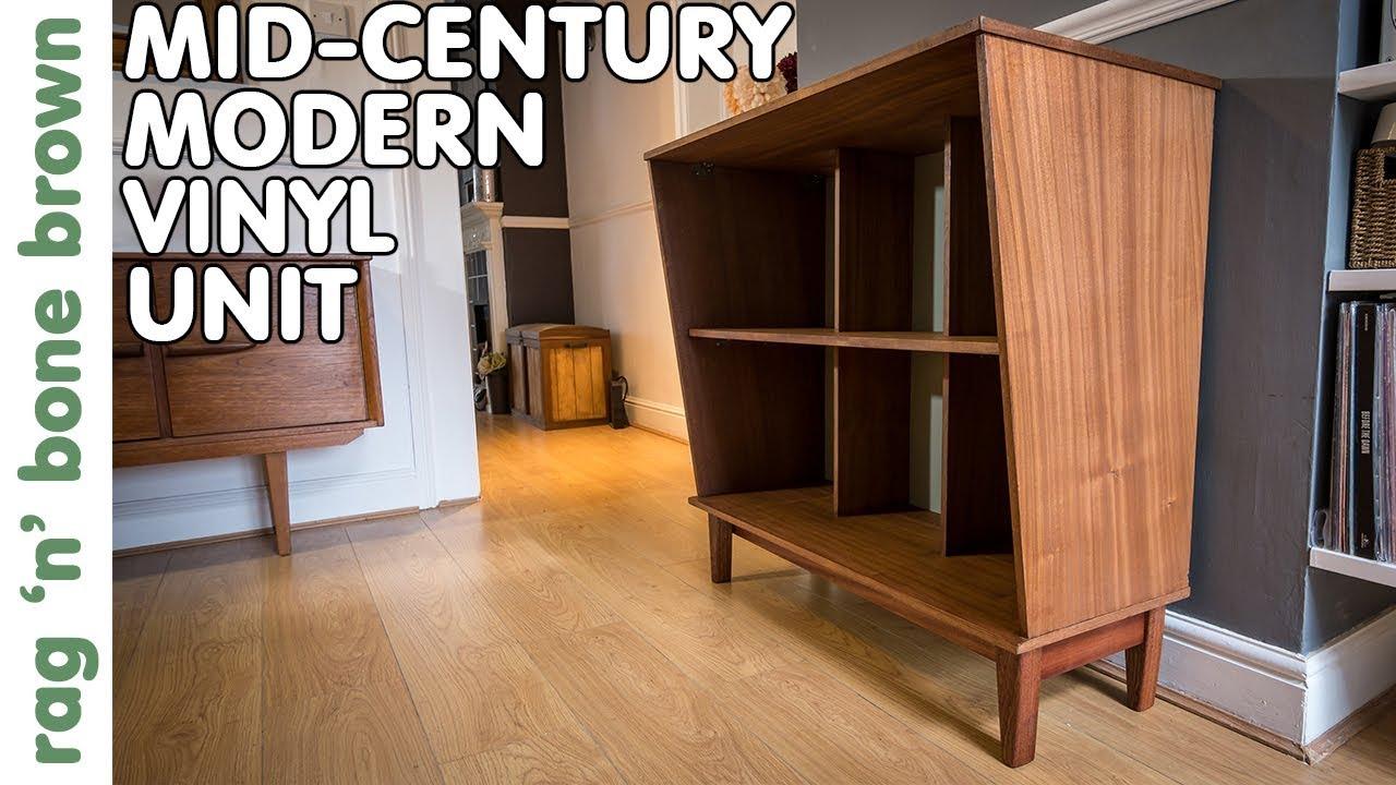 Mid Century Modern Vinyl Storage Unit
