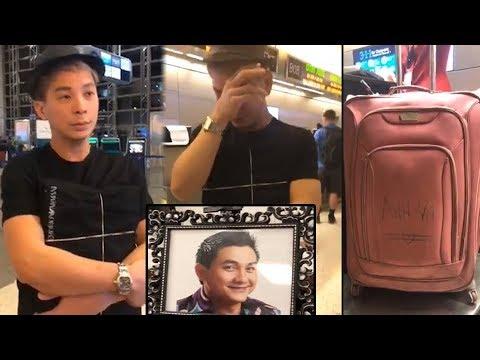 Nghẹn lòng cảnh bạn thân ôm di ảnh Aпʜ Vũ bọc kín đen khóc giữa sân bay, vali in tên mang đồ về VN