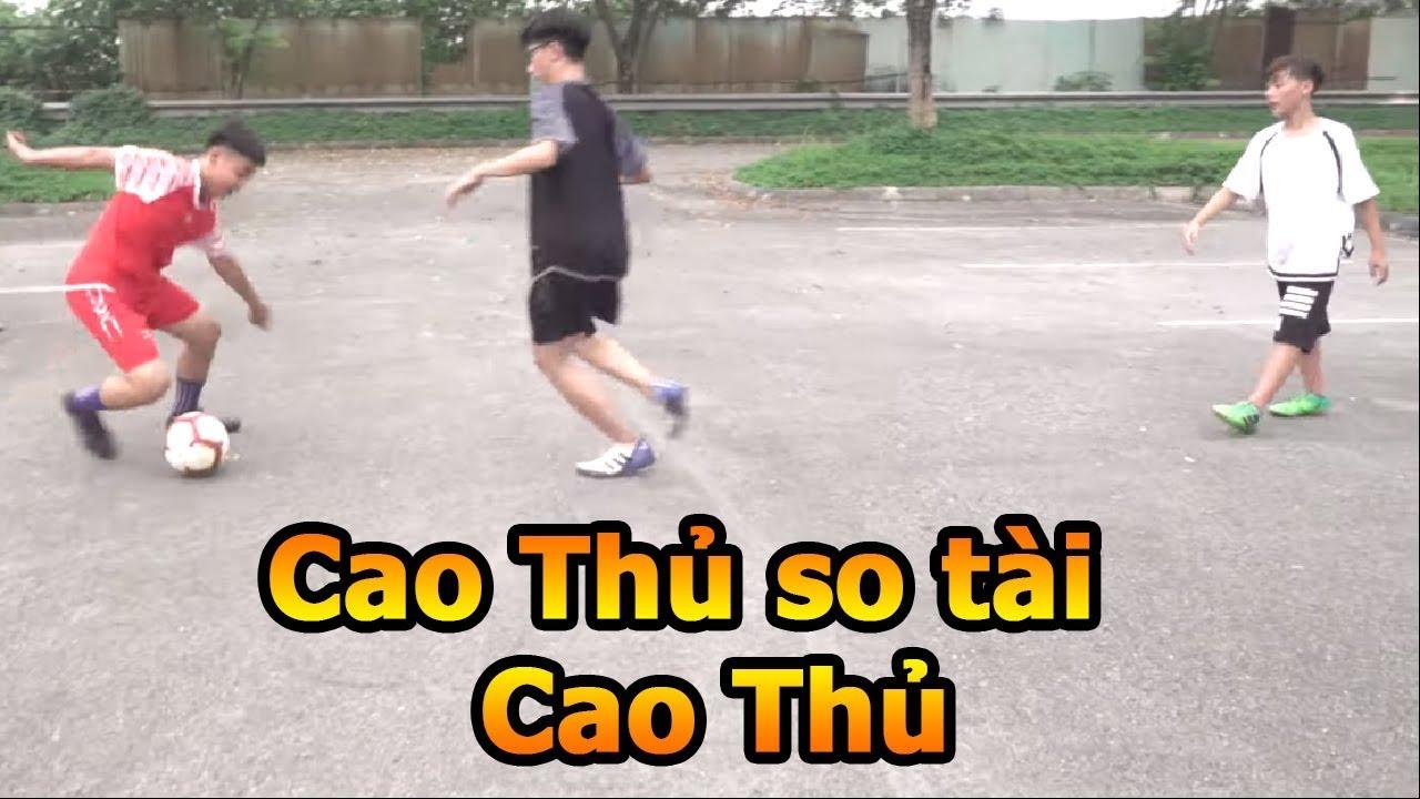 Thử Thách Bóng Đá 2 vs 2 Team Quang Hải Nhí so tài 2 đối thủ mạnh với trọng tài Đỗ Kim Phúc