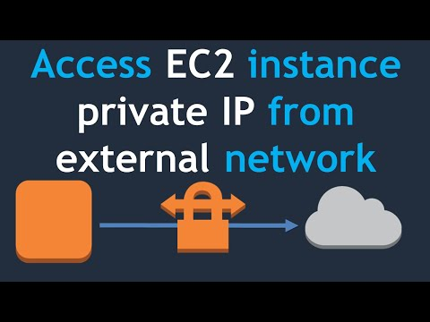 Access EC2 instance through private IP address by using VPN